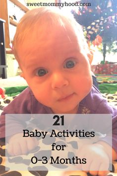 Engaging newborn activities to do to help your baby develop. Try doing tummy time, reading, exercise and so much more. Click through to read more or re-pin for later! #babyplay #newborn #babyactivities #momtips