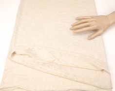 Light Nude Beige Open Weave Sweater Knit Fabric by felinusfabrics
