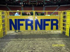 Not many words needed to describe how cool it was to be able to take this picture.  NFR alley way....priceless
