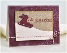 Sledding card by Debbie Olson for Papertrey Ink (October 2011).