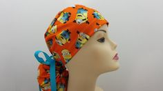 Hey, I found this really awesome Etsy listing at https://www.etsy.com/listing/270076287/surgical-cap-ponytail-stile-orange