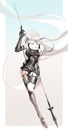 Character Concept, Character Art, Concept Art, Manga Girl, Manga Anime, Female Characters, Anime Characters, Nier Automata A2, A2 Nier
