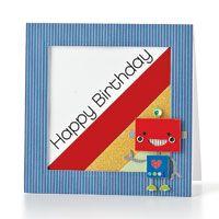 Robot Birthday Card by @Windy Robinson