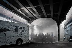 Raumlabor's Spacebuster, courtesy of Storefront for Art and Architecture and Daily Tonic