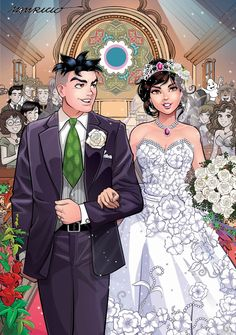 Wedding Art, Wedding Images, Dream Wedding, Digimon, Just Married, Getting Married, Brother Innovis, Happy Anniversary Cards, Cartoon As Anime