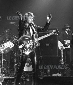 Johnny Hallyday en concert à Dijon le 20 mars 1981