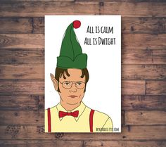 Funny Christmas Card The Office US Michael Scott Funny Holiday Card Xmas Card This is The Christmas Spirt Office Greeting Card