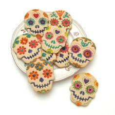 Eight Sugar Cookies Skulls Baked Goods by MoonLightCookieArt, $25.00