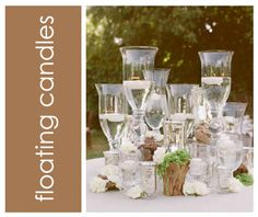 extra large wine glasses for centerpieces | Hurricane Candles Centerpieces