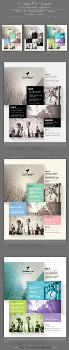 Corporate Flyer Templates (CS3, 8.5x11, advertisement, advertising, business, clean, communications, company, conceptual, consulting, corporate, elegant, grid system, human resource, informative, law, legal, marketing, modern, public relations, seminar, services, technology)