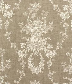 Waverly Country House Linen Cameo Toile Fabric by texassusannie, $21.99