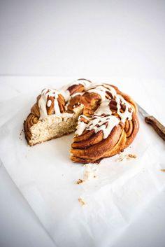 Favorite Sweet Treat (Cinnamon Cream Cheese Brioche Wreath via Butter and Brioche)