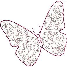 Butterfly Outline Coloring Page