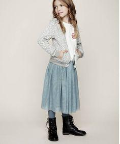 Creamie Justine long midi skirt lead