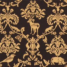 http://www.kawaiifabric.com/en/p10058-black-echino-canvas-fabric-gold-metallic-animal-leaf-skull-Classic-Animals.html
