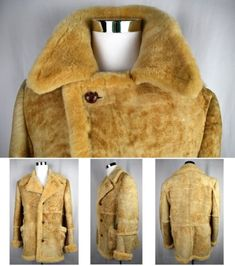VTG-SEARS-Genuine-Shearling-Mountain-Man-Sheepskin-Coat-Western-Marlboro-42-Tall Statement Jackets, Sheepskin Coat, Mountain Man, Westerns, Fur Coat, Clothing, Fashion, Outfit, Moda