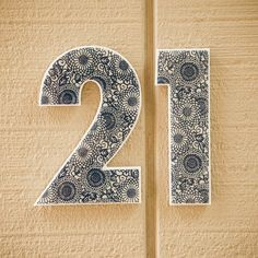 House numbers to put on the mail box - LOVE