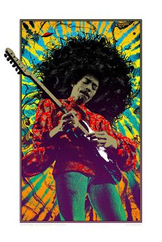 Movie Posters : Adam Pobiak Jim Hendrix Print Release From Flood Gallery