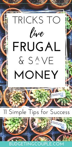 Ready to *effortlessly* live frugal and save money every month? Check out these super simple frugal tips to save money every day on autopilot! Trick yourself into saving money and living frugally in Budgeting Couple Best Money Saving Tips, Ways To Save Money, Money Tips, Saving Money, How To Make Money, Money Budget, Money Hacks, Tips And Tricks, Frugal Living Tips