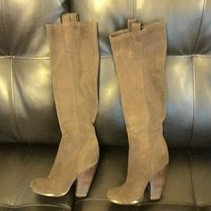 Carlos boots Carlos suade boots. Very comfortable and willing to negotiate price! Carlos Santana Shoes Heeled Boots