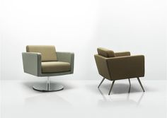 With distinct references to mid century design, Fifty Series offers a classically shaped and proportioned collection of soft seating. The meticulous attention to detail, traditional construction and tailored upholstery deliver a truly stunning result. Fifty Series is an ideal choice for lounge seating in workplaces, hospitality or travel environments.