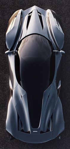 The only thing Ferrari about this concept car is the logo on the front and back! Not many designers exercise the right to say 'Hey, let's