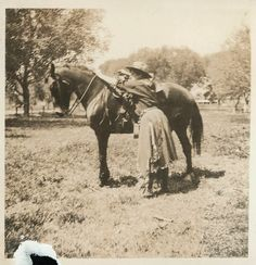 Cowgirl And Her Horse | vintage photo 2 photos Cowgirl and Her Horse by maclancy on Etsy