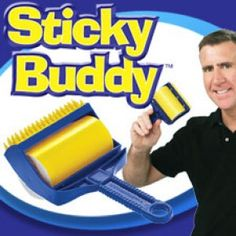 Do you love your pet, but hate the hair they leave behind? Sticky Buddy, the super sticky lint roller that has the power of glue without the goo! Use it to remove cat hair, dog hair, crumbs, and much more! Safe on all types of fabrics and can be used to clean your clothing, comforters, furniture etc. It works great on ground in messes. The Sticky Buddy is reusable! Simply clean it with soap and water and let it air dry. In no time, you're Sticky Buddy is sticky again! #AsSeenOnTV