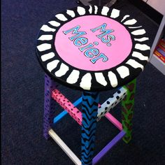 Teacher stool- painted by my mom