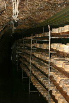 A Cabrales aging cave in Asturias. Photo by Gerry Dawes©2009. gerrydawes@aol.com