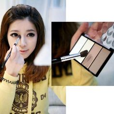 Make-up Cosmetic 1 PCS 4 in 1 Four Color Contour Shading Pressed Powder Highlight Free Shipping#M01077