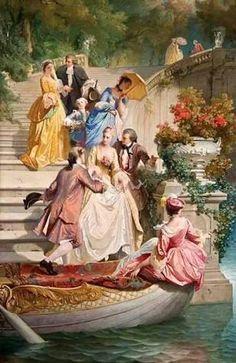 Maison De Poupées Tudor Garden Promenade peinture or cadre miniature photo accessoire