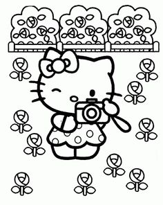Pin By Liz Kurumu On Hello Kitty Para Pintar