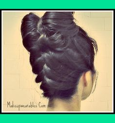 Hair bows! Upside Down FRENCH Braided, Double Hair Bow Bun Tutorial! :) | Tina - MakeupWearables L.'s (makeupwearables) Photo | Beautylish