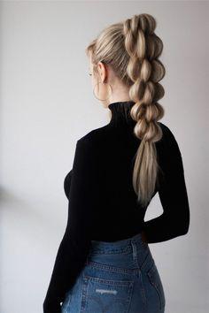Unique tutorial for braided ponytail hair, . - Einzigartiges Tutorial für geflochtenes Pferdeschwanzhaar, … Unique tutorial for braided ponytail hair, …, Braided Hairstyles For Black Women, Braided Hairstyles Tutorials, Box Braids Hairstyles, Hairstyle Ideas, Long Hair Tutorials, Unique Hairstyles, Braid Tutorials, Easy Hairstyle, Summer Hairstyles