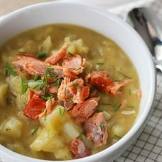 Leek Fennel Chowder with Smoked Salmon--pair with salad for an early summer dinner
