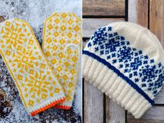Today I am taking you on a knitting trip to a country far, far away. This unique selection of Norwegian Winter Accessories is inspired by Scandinavian Knitted Mittens Pattern, Crochet Mittens, Knitted Gloves, Knitting Patterns Free, Free Knitting, Free Pattern, Winter Goddess, Norwegian Knitting, Winter Accessories