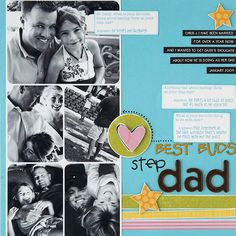 Stepdad Scrapbook Page