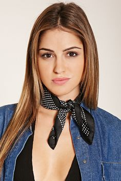 Polka Dot Mini Square Scarf | Forever 21 - 1000185272