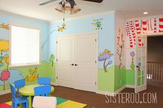 How cool is this!  A Dr. Seuss Playroom!!!
