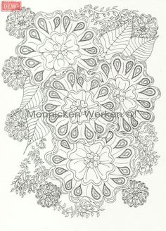 Flowers! Will be in Global Doodle Gems Flower edition, coloringbook for adults. To purchase a print or a smartphone case with this print, visit Monnicken Werken at Facebook : https://m.facebook.com/profile.php?id=878872252171950