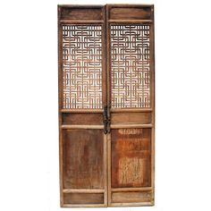 Chinese Lattice Doors | From a unique collection of antique and modern doors and gates at http://www.1stdibs.com/furniture/building-garden/doors-gates/