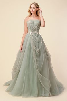Pretty Prom Dresses, Elegant Dresses, Cute Dresses, Beautiful Dresses, Long Fancy Dresses, Colorful Prom Dresses, Floral Prom Dresses, Floral Gown, Dresses For Sale