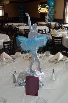 Ballet Centerpiece by www.idealpartydecorators.com