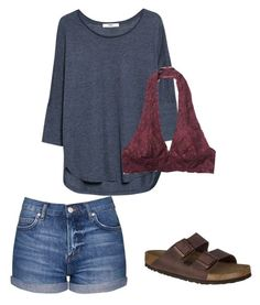 outfit 203. by sebailey on Polyvore featuring polyvore, fashion, style, MANGO, Topshop, Free People, Birkenstock and clothing