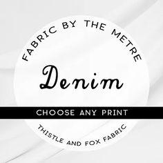 Australian Fabrics | Thistle and Fox Custom Printed Fabric, Printed Cotton, Printing On Fabric, Surface Pattern Design, Organic Cotton, Cotton Fabric, Fox, Fabrics, Handmade