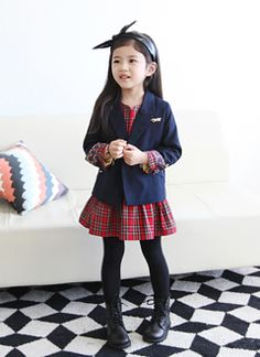 I <3 J. Korean Kid's Fashion. School girl outfit with walkers and blazer.