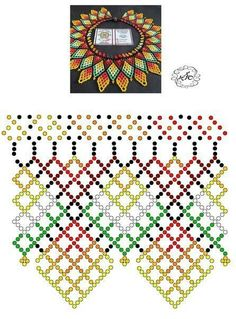 Diy Necklace Patterns, Beaded Jewelry Patterns, Peyote Patterns, Beading Patterns, Fabric Beads, Bead Jewellery, Handmade Beads, Beads And Wire, Beading Tutorials