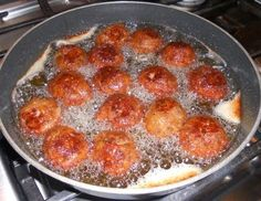 Grammy's Italian Meatballs (frying is a good thing)Grammy's Apron (Recipes & Reflections): main dishes