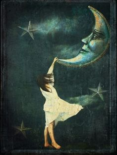 Vintage Moon by michael….Checkout this beautiful fantasy art by this amazing artist. Sun Moon Stars, Sun And Stars, Paper Moon, Good Night Moon, Night Night, Moon Magic, Beautiful Moon, Moon Art, Moon Moon